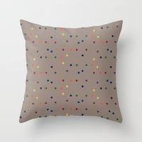 sprinkles Throw Pillows featuring Sprinkles by D.J.D