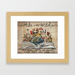 The World Is A Book Framed Art Print