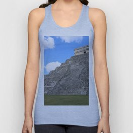 Chichen Itza Temple of Kukulcan south-west View Unisex Tank Top