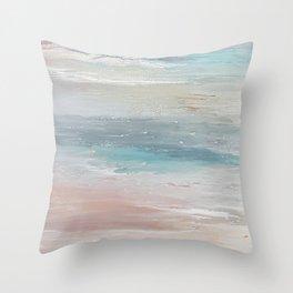 Sea breeze, acrylic on canvas Throw Pillow