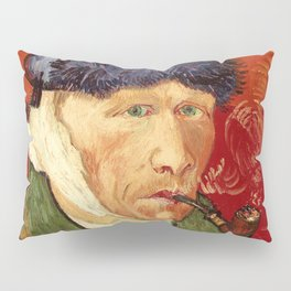 Vincent van Gogh Self-portrait with Bandaged Ear and Pipe Pillow Sham