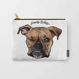 Pearly White Underbite - Boxer Style Dark Carry-All Pouch