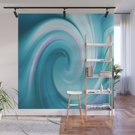 Blue wave 209 Wall Mural