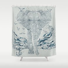 THE OCEAN SPIRIT Shower Curtain