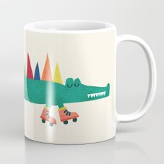 Crocodile on Roller Skates Mug