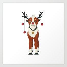 Reindeer Rudolph Art Print