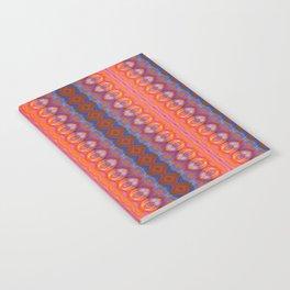 Vibrant blue and orange pattern Notebook