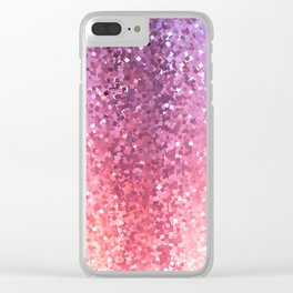 Squarely in the Realm of Glitter Clear iPhone Case