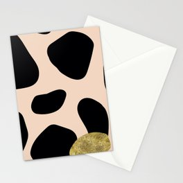 Golden exotics - Cow and soft tangerine Stationery Cards
