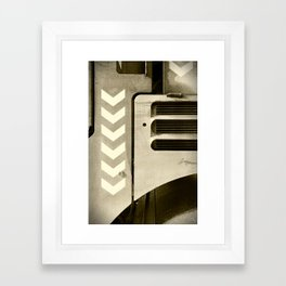 Road Roller Chevron 05 - Industrial Abstract Framed Art Print