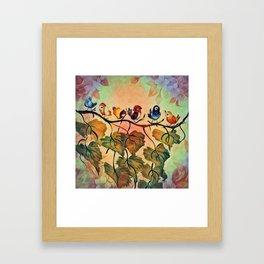 Spring Peeps Framed Art Print