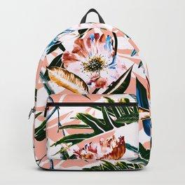 Vibrant botanical dreams Backpack