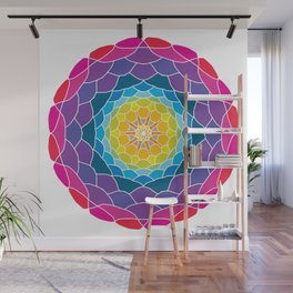 floral ornament. circular pattern Wall Mural