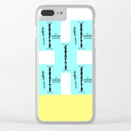 artsy crafty Clear iPhone Case