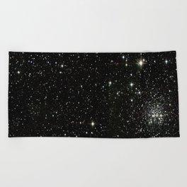 Space - Stars - Starry Night - Black - Universe - Deep Space Beach Towel