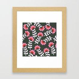 Camelita Retro Folk Flower Framed Art Print