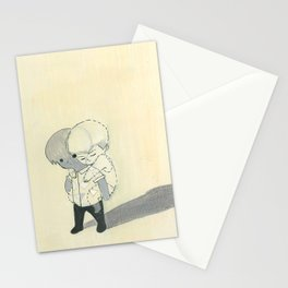 invisible backpack Stationery Cards