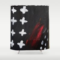 cross Shower Curtains featuring cross by Auguste.
