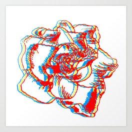 Glitch gardenia - primaries Art Print