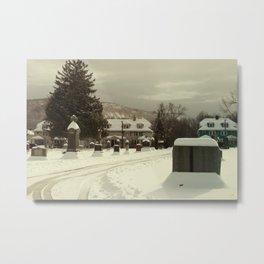 Mt. Tom in the snow Metal Print