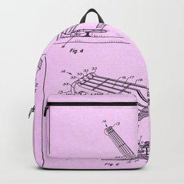 Guitar Patent - light pink Backpack