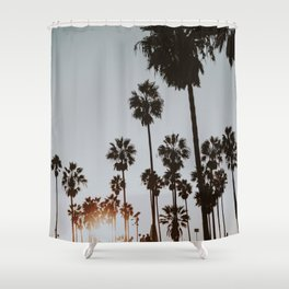 palm trees vi / venice beach, california Shower Curtain