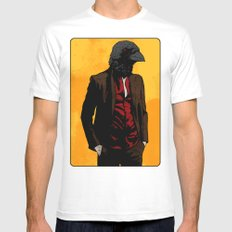 Nevermore White MEDIUM Mens Fitted Tee