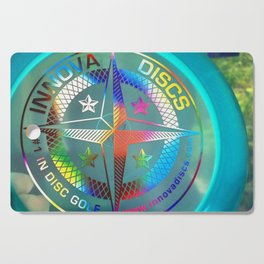 Disc Golf Boss Frisbee Blue Crystal Rainbow First Run Proto Cutting Board