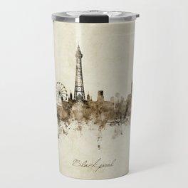 Blackpool England Skyline Travel Mug