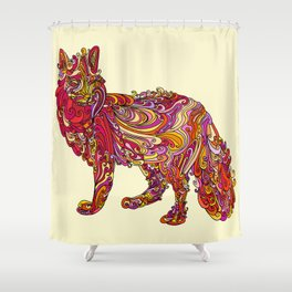Fox by Day Shower Curtain