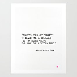 George Bernard Shaw quote Art Print