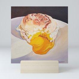 Egg Sandwich - food painting Mini Art Print