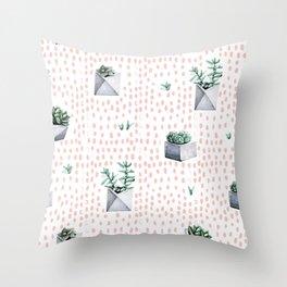 Cactus Pattern 01 Throw Pillow