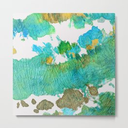 Green Earthy Abstract - Earth Dance - Sharon Cummings Metal Print