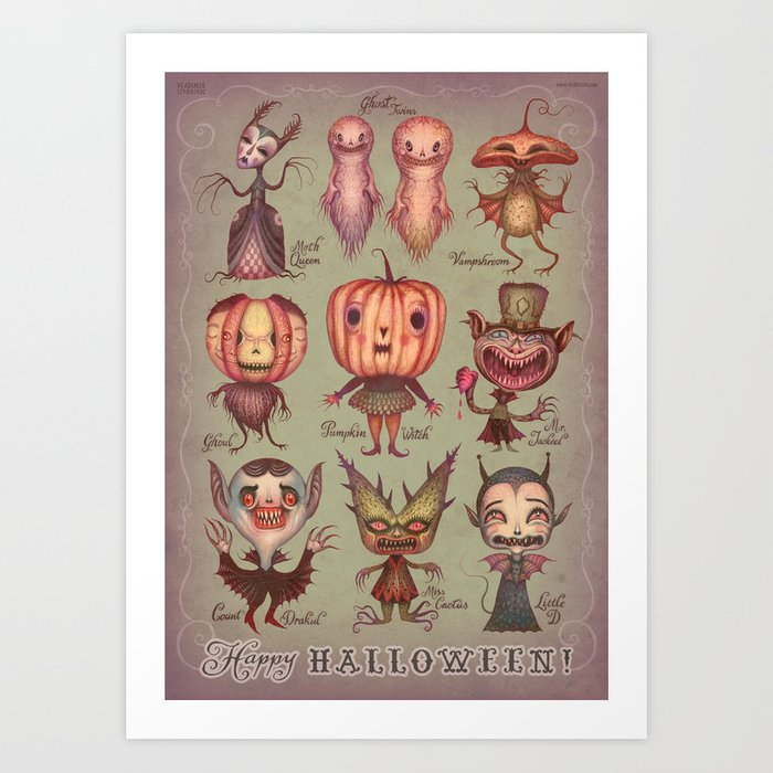 Happy Halloween! Art Print