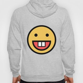 Smiley Face   Big Tooth Out   Smiling Teeth Mouth Hoody