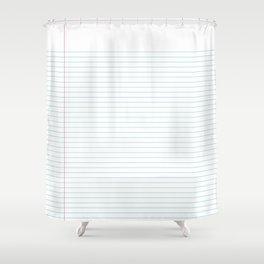 Notepaper Shower Curtain