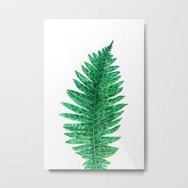 Green Leaf Metal Print