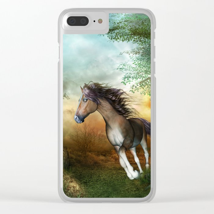 Beautiful brown horse Clear iPhone Case
