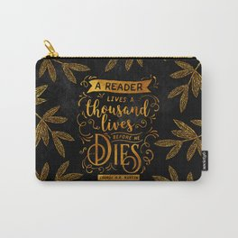 Thousand Lives - gold Carry-All Pouch