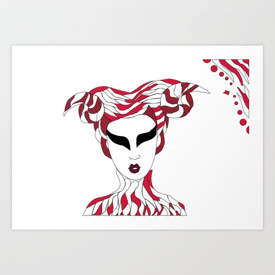Aries / 12 Signs of the Zodiac Art Print