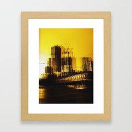 Yellow City Framed Art Print