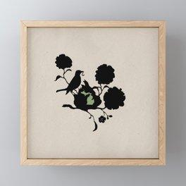 Michigan - State Papercut Print Framed Mini Art Print