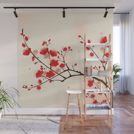 Oriental plum blossom in spring 009 Wall Mural