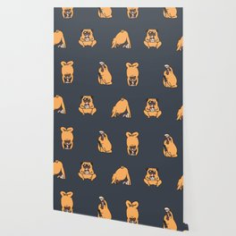 Pizza Yoga with The Pug Wallpaper