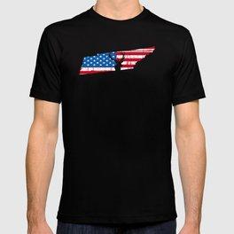 American Flag Tennessee Deer Hunting Patriotic T-Shirt T-shirt