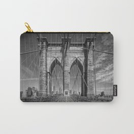 NEW YORK CITY Brooklyn Bridge in Detail Carry-All Pouch