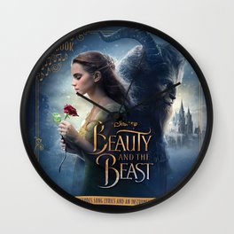 beauty and the beast poster Wall Clock