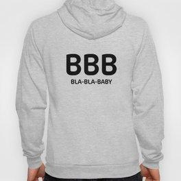 "White typography pattern ""Bla Bla Baby"" Hoody"