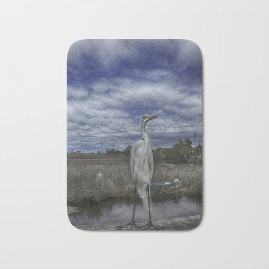 Great Egret Bath Mat
